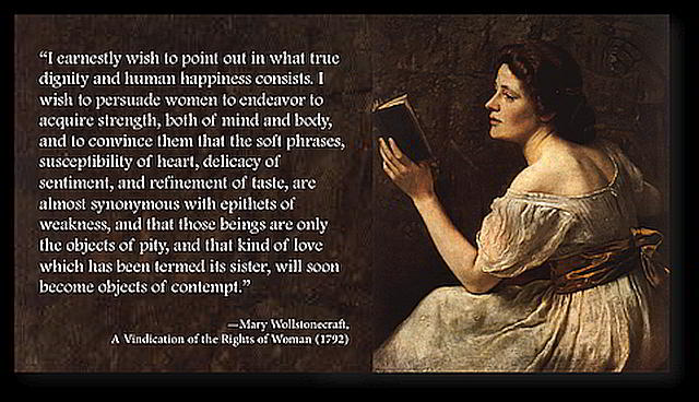 wollstonecraft unnatural distinctions established in society Mary wollstonecraft – pernicious effects arise from the unnatural distinctions established in society.